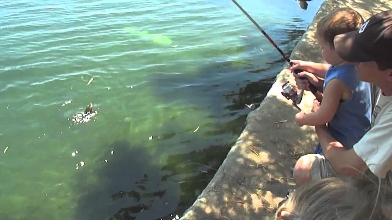 Fishing at Harveston Lake in
