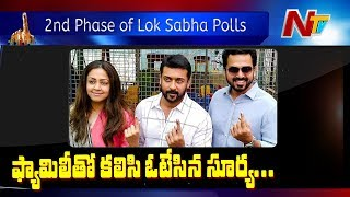 Actor Surya, Jyothika and Karthi Cast their Vote | Lok Sabha Polls 2019 | NTV