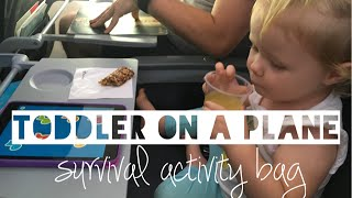 TODDLER ON A PLANE | DIY Survival Backpack and Activities - Mummy Maker