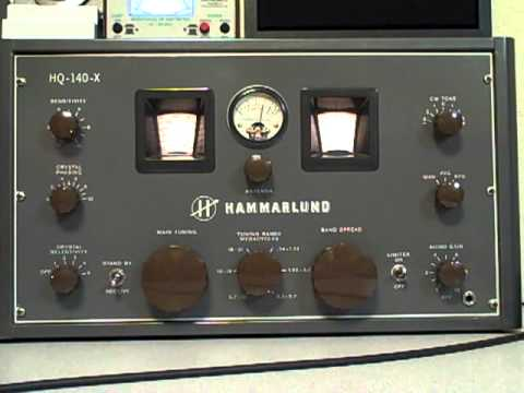 Hammarlund HQ-140-X on 75 Meter AM Phone
