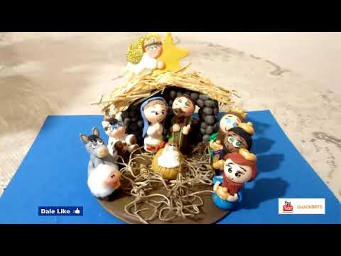 Tutorial Pesebre en porcelana fría FACIL /  Nativity Scene Cold porcelain EASY