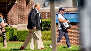 President Trump arrives in Conway, SC to assess Hurricane Florence Damage Conway Police Department