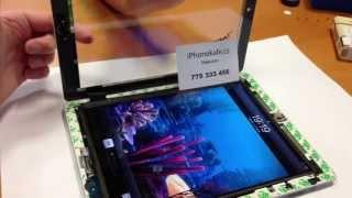iPad - nové sklo, vypínač, home button a WiFi anténa