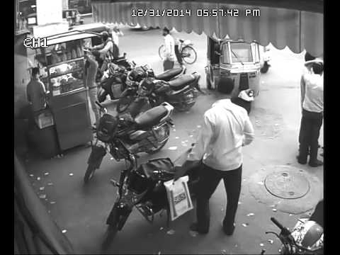 Bike Thief Caught in CCTV opposite Yashoda Hospital in front of Cafe Need
