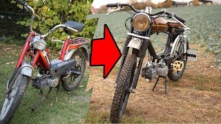 Scrapyard-moped to Cafe-Racer in 5000 Photos