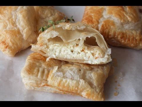 How To Make Puff Pastry Snacks With Feta Cheese And Cream Cheese - By One Kitchen Episode 237
