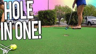 We Got A DOUBLE MINI GOLF HOLE IN ONE At Tribal Island Mini Golf!