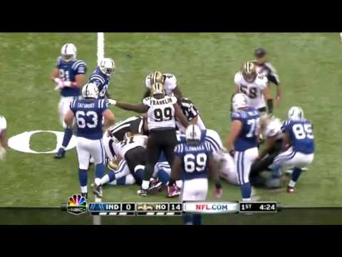 (NFL) 2011 Saints Defeat Colts 62-7 Highlights