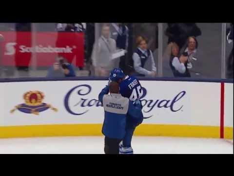 Mark Fraser takes a Puck to the Head - May 8th 2013 (HD)