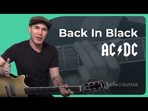 Back In Black - AC/DC - Rock Guitar Lesson (SB-327) Angus, Malcolm