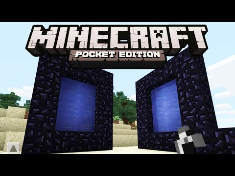 Minecaft PE Portal Mod (How To Make a Portal) | Minecraft PE 0.10.0 / 0.10.4
