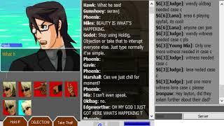 A normal staring contest in Attorney Online