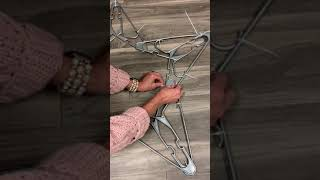 Star made from hangers