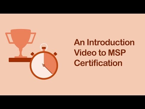 An Introduction Video to MSP Certification | An Overview of MSP Certification Training