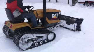 Mini Cat Challenger Tractor SnowPlow