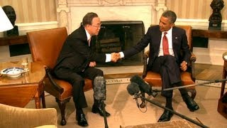 President Obama Meets with UN Secretary General Ban Ki-moon  4/11/13  (white house)