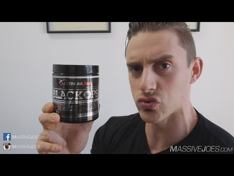Platinum Labs BLACK OPS Pre-Workout PUMP Supplement Review - MassiveJoes.com Raw Review