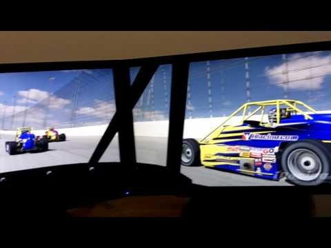 iRacing Eyefinity Silver Crown Chicagoland Speedway Video