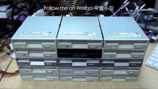 Super Mario Bros. theme on Floppy Drives.