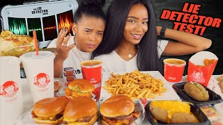 MASSIVE WENDY'S MUKBANG + LIE DETECTOR TEST!