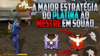 COMO SAIR DO PLATINA PRO MESTRE EM SQUAD (DICAS) - FREE FIRE