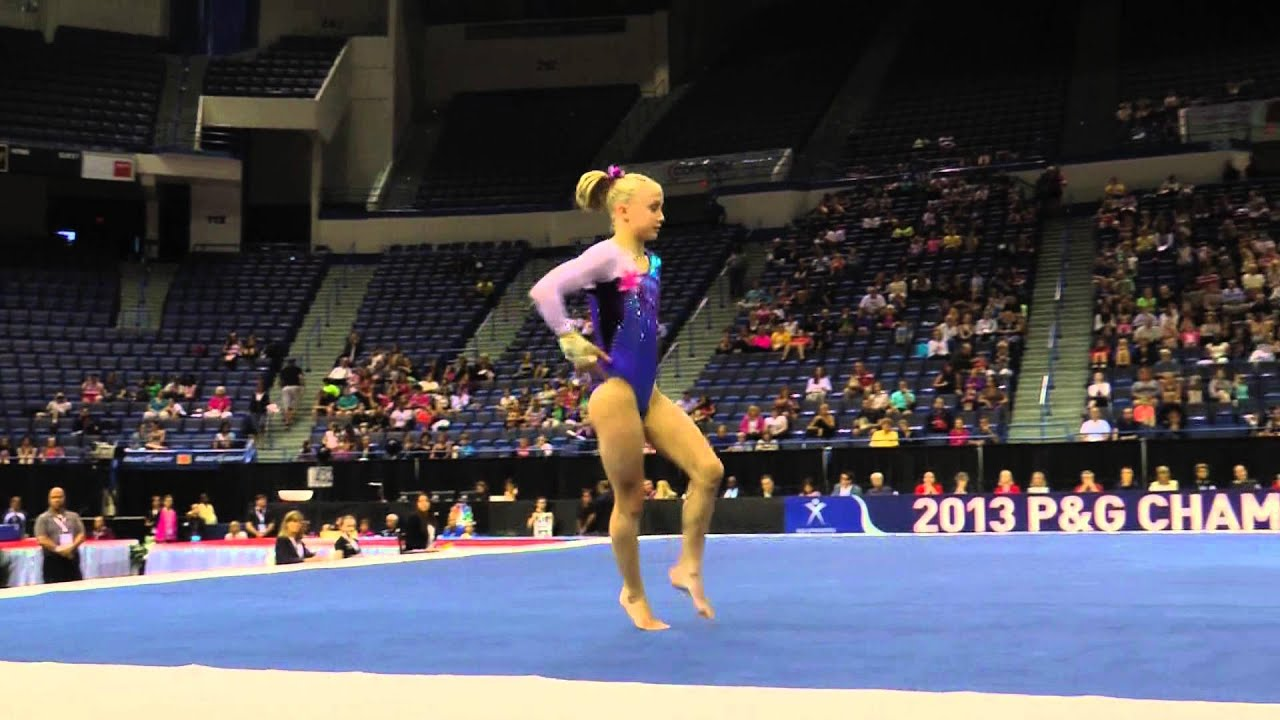Bailie key floor exercise 2013 p g gymnastics for Floor gymnastics