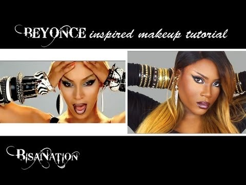 Beyonce 'video Phone' Music Video Inspired Makeup Tutorial Ft Rpgshow Wig video