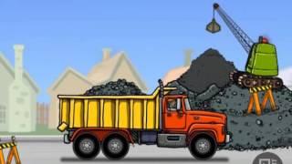 Hoạt hình Ô tô, Cần Cẩu, máy xúc, xe tải, xe ben, xe cẩu xúc đất lên xe tải, video for kids phần 1!