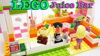 Лего фреш бар конструктор Lego Hardlake juice bar Видео для детей
