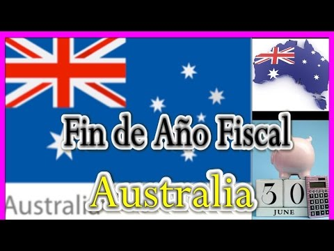 El Fin del Año Fiscal en Australia / End of  Financial Year