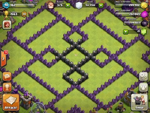 Clash of clans best th 10 defense level 4 p e k k a attack