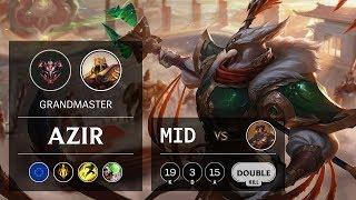 Azir Mid vs Viktor - EUW Grandmaster Patch 9.6