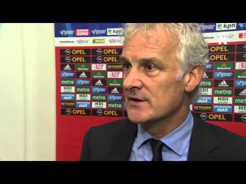 Fred Rutten na afloop van Feyenoord - PEC Zwolle