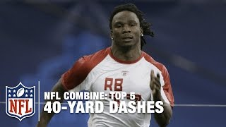 Top 5 Fastest 40-Yard Dashes in NFL Combine History