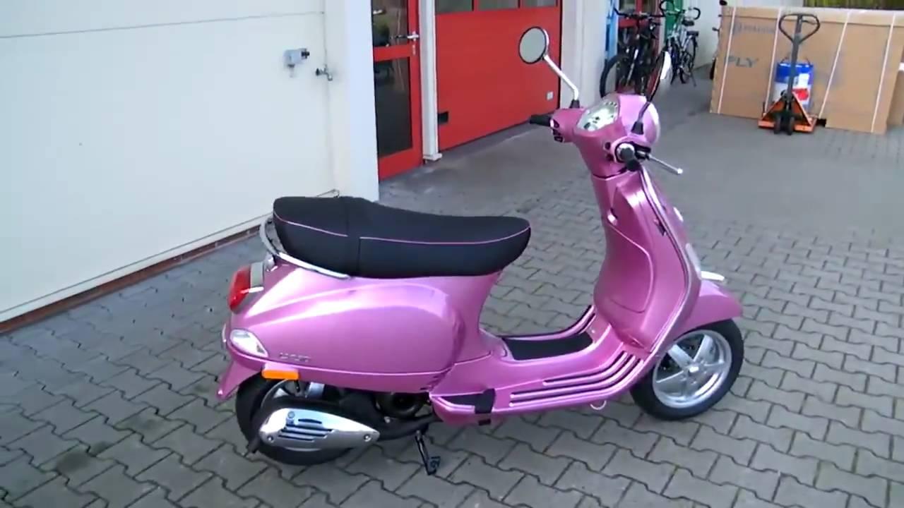 vespa lx 50 2t chic 2010 roller farbe rosa youtube. Black Bedroom Furniture Sets. Home Design Ideas
