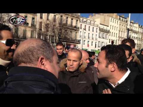 Altercation pro et contre Bouteflika 4éme mandat à Marseille