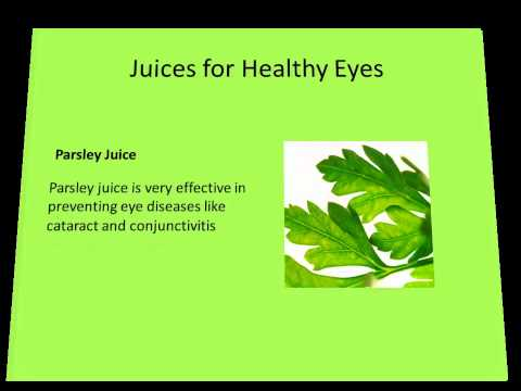 Juices for Healthy Eyes