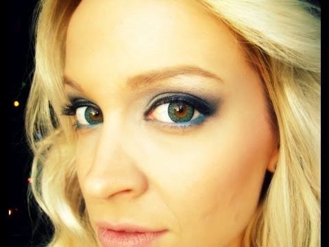 Blue Smokey Eye Tutorial using Wet n Wild & OOTD