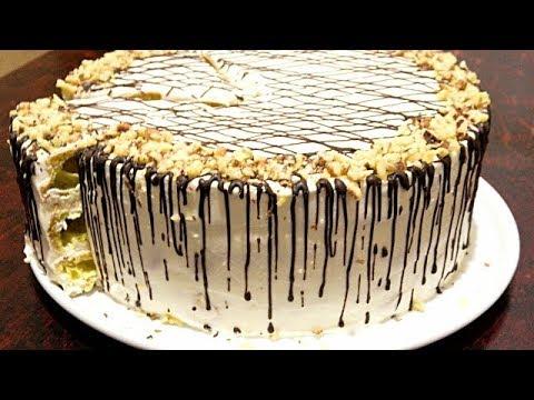 """Торт """"ДАМСКИЕ ПАЛЬЧИКИ """" со сметанным кремом. Нежный, воздушный торт."""