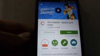 Review: The Cleaner - Speed Up & Clean - Aumentar velocidad ANDROID