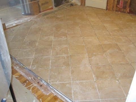 Ceramic tile on plywood