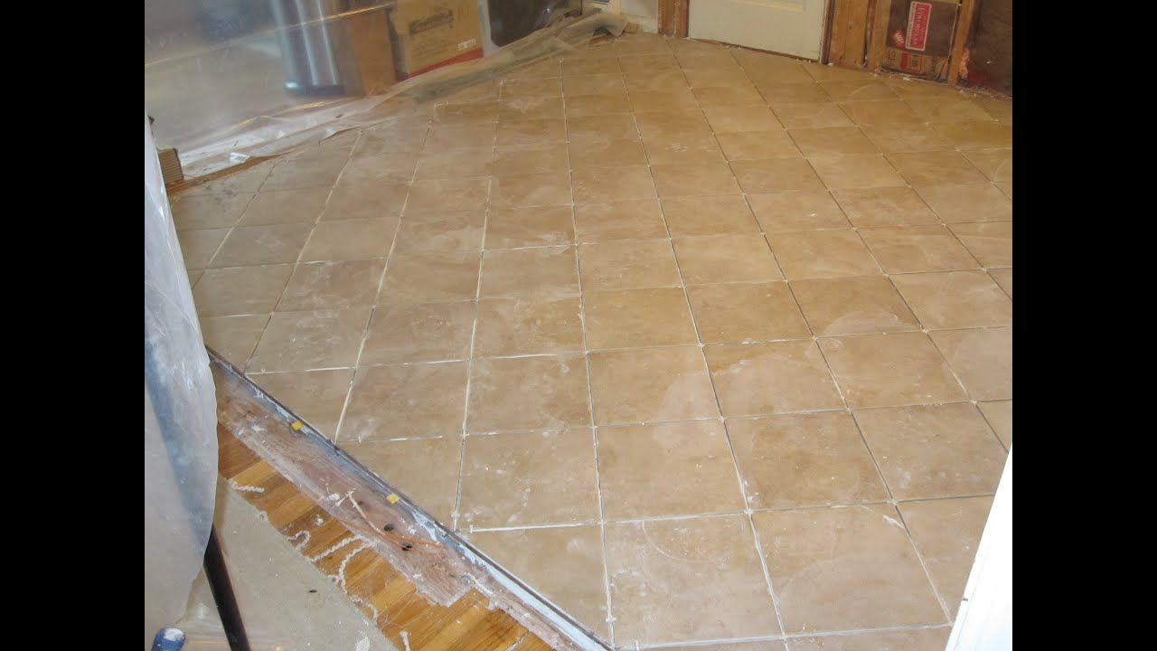 Install Bathroom Floor Underlayment : Time lapse ceramic tile installation with schluter ditra