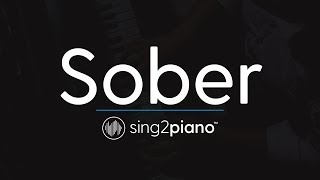 Sober Piano Karaoke Instrumental Demi Lovato