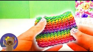 Rainbow Loom wallet easy purse english tutorial - How to make a loom bands purse