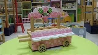 Xe bán kem dễ thương từ Đồ chơi gỗ Nam Hoa - Wooden Ice-cream shop toy for kids from Nam Hoa Toys