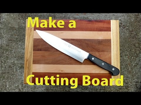 Making a Wood Cutting Board - A Woodworkweb woodworking video
