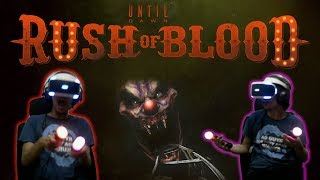Until Dawn: Rush Of Blood | PS4 VR Gameplay| HORROR ROLLER COASTER!