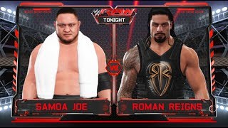 Roman Reigns vs. Samoa Joe: Raw-No.1 contender for WWE Universal championship-WWE-2K17-Prediction