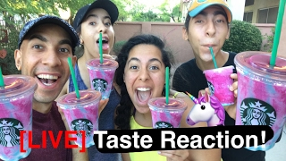 Live Unicorn Frappuccino Taste Reaction!!! 🦄