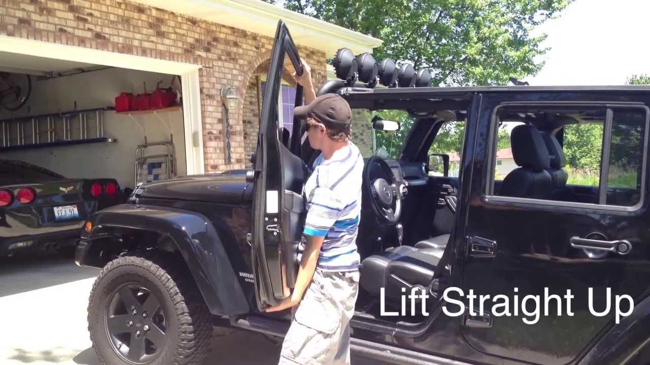 Jeep Wrangler Tutorial How To Remove The Doors Youtube